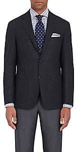 Canali Men's Kei Double-Faced Wool Two-Button Sportcoat-Charcoal