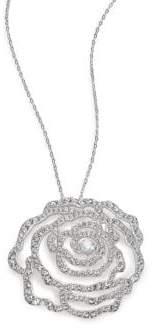 Adriana Orsini Pave Crystal Rosette Pendant Necklace