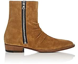 Amiri Men's Skinny Stack Suede Ankle Boots - Lt. Brown Size 9 M