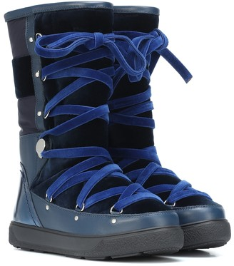 Moncler Velvet and leather boots