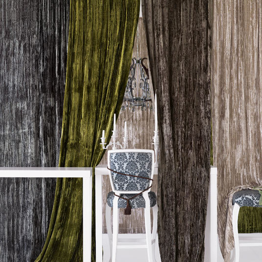 Vertical Crushed Velvet Window Panel