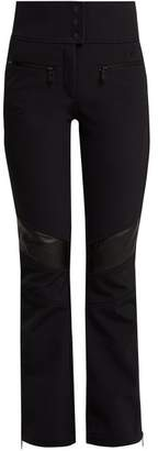 Toni Sailer - Emma Leather Panel Ski Trousers - Womens - Black