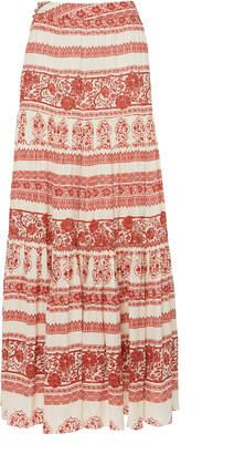 Johanna Ortiz Western Orientalism Printed Silk-Georgette Maxi Skirt