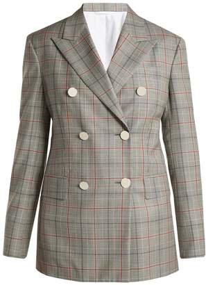 Calvin Klein Wall Street Prince of Wales-checked wool jacket