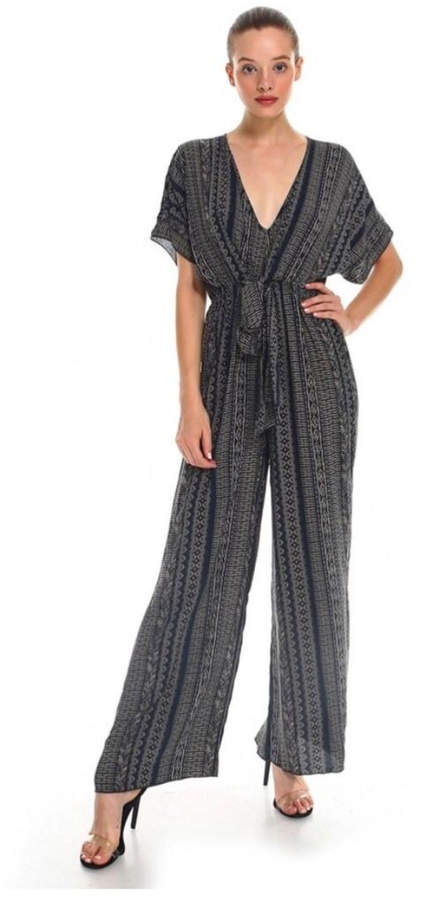 Polly & Esther Tribal Print Jumpsuit
