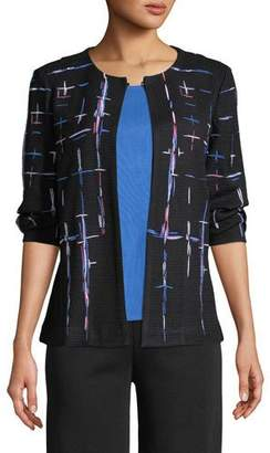 Misook Shaded Lines Jacket, Plus Size
