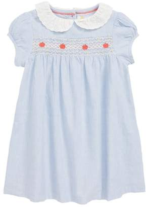 Boden Mini Pretty Collar Smock Dress