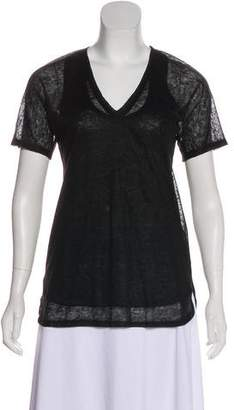 Adam Short Sleeve V-neck Blouse