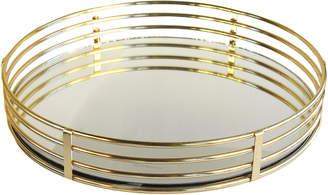 Jay Import Circle Gold Mirror Tray