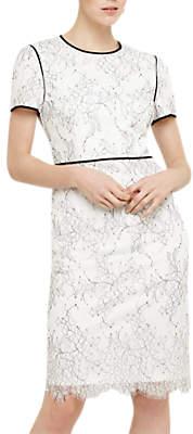 Phase Eight Adona Lace Dress, Cream/Ivory
