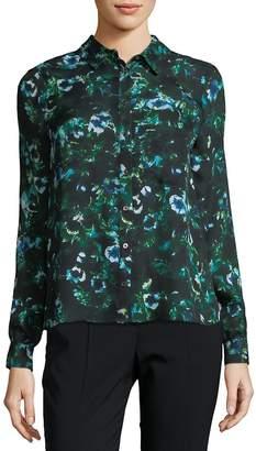 Haute Hippie Women's Floral Silk Button-Down Shirt
