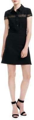 Maje Flared Shirt Dress