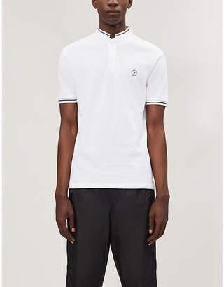 The Kooples Contrast-trim cotton-piqué polo shirt