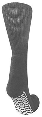Personal Touch Health Care Apparel Pack of 3 Personal Touch Comfortable Diabetic Slipper Socks Crew Style (Gray, 13-15)