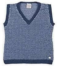 Paz Rodriguez Infants' Wool Sweater Vest-Blue
