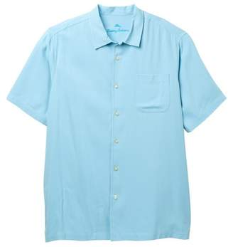 Tommy Bahama Catalina Twill Short Sleeve Silk Shirt (Big & Tall)