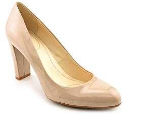 Calvin Klein Olive Women Round Toe Patent Leather Heels.