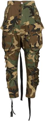 Unravel Project cropped camouflage cargo pants