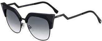 Fendi Iridia Mirrored Cat-Eye Sunglasses