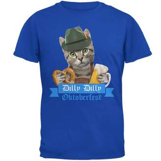 Old Glory Dilly Dilly Oktoberfest Funny Cat Mens Soft T Shirt Royal X-LG de0e02de1