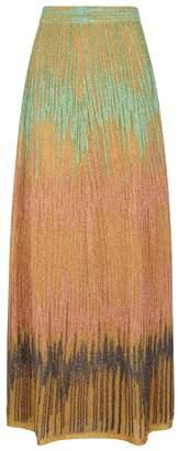 M Missoni Gold Metallic-knit Maxi Skirt