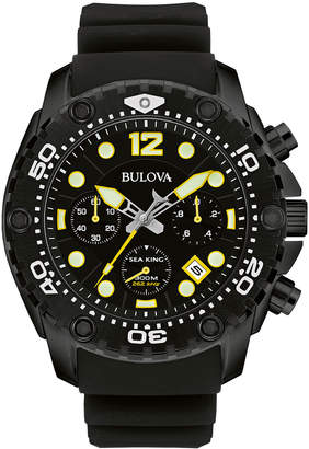 Bulova 47mm Men's Sea King Analog Sport Watch w/ Rubber Strap