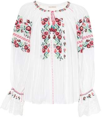 Ulla Johnson Devra embroidered cotton blouse