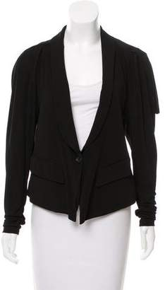 Elizabeth and James Draped Shawl Collar Blazer