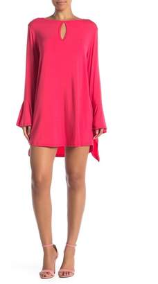 Couture Go Keyhole Long Bell Sleeve Dress