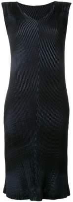 Issey Miyake mirrored pleats dress