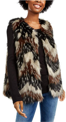 Say What Juniors' Faux-Fur Vest