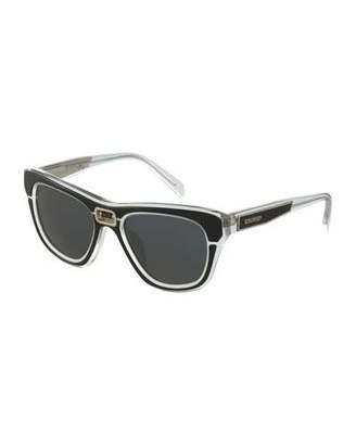 Balmain Transparent Acetate Sunglasses