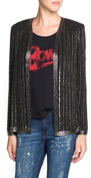 MANGO Beaded chiffon jacket