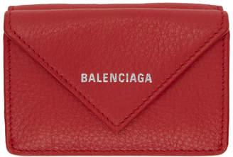 Balenciaga (バレンシアガ) - Balenciaga レッド ミニ ペーパー ウォレット
