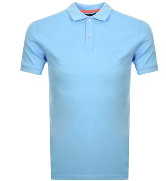 Superdry Classic Micro Pique Polo T Shirt Blue