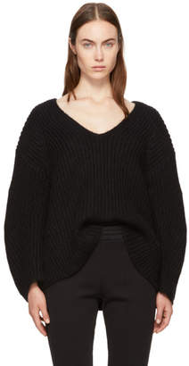 Alexander Wang Black Bracelet Sleeve V-Neck Sweater