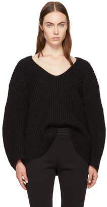 Alexander Wang Black Bracelet Sleeve V-Neck Sweater