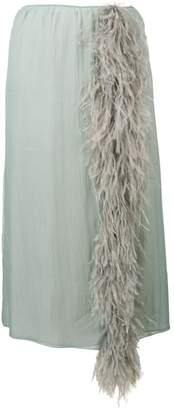 Prada feather tassel skirt