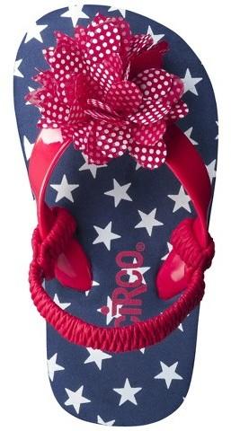 Circo Toddler Girl's Darielle Flip Flop Sandals - Red