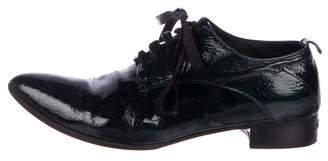 CNC Costume National C'N'C Patent Leather Pointed-Toe Oxfords