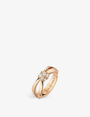 Chaumet Liens Séduction 18ct pink-gold and diamond ring