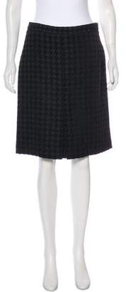 Brooks Brothers Houndstooth Knee-Length Skirt