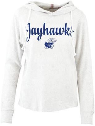 Pressbox Women Kansas Jayhawks Cuddle Knit Hooded Sweatshirt