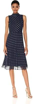 Taylor Dresses Women's Novelty Metallic Dot Chiffon Dress, 8