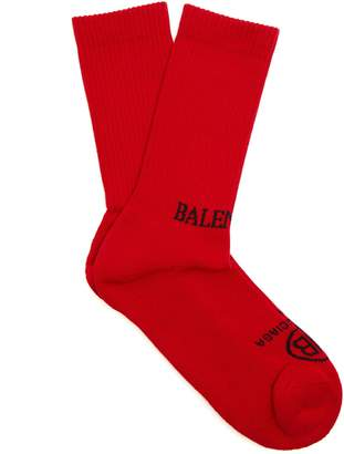 Balenciaga Logo cotton-blend socks