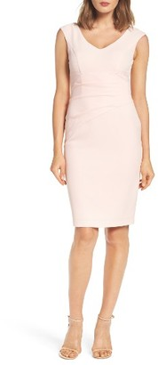 Women's Adrianna Papell Crepe Sheath Dress $98 thestylecure.com