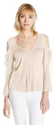 Ella Moss Women's Essential Bella V-Neck Cold Shoulder Top