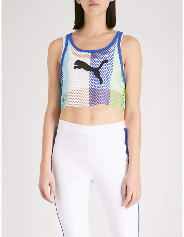 Cropped mesh top