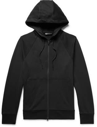 Y-3 Logo-Print Loopback Cotton-Jersey Zip-Up Hoodie