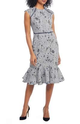 Maggy London Plaid Rose Dress